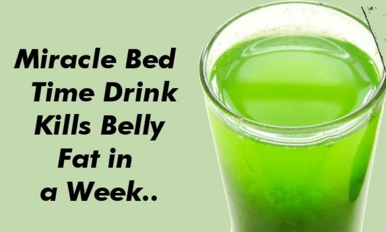 Miracle Bed Time Drink That Kills Belly Fat