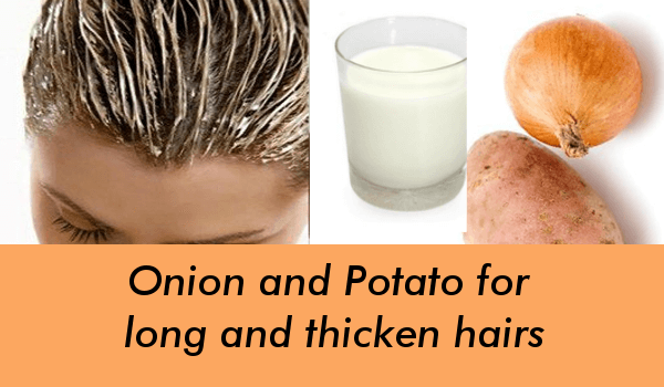 Onion and Potato for long and thicken hairs