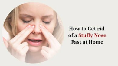 How to Get rid of a Stuffy Nose Fast at Home