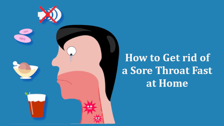 How to Get rid of a Sore Throat Fast at Home