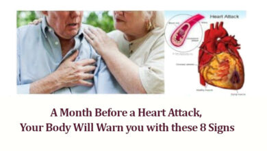 Photo of A Month Before a Heart Attack, Your Body Will Warn you with these 8 Signs