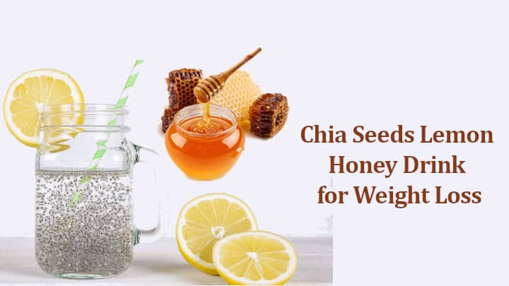 Chia Seeds Lemon Honey Drink for Weight Loss