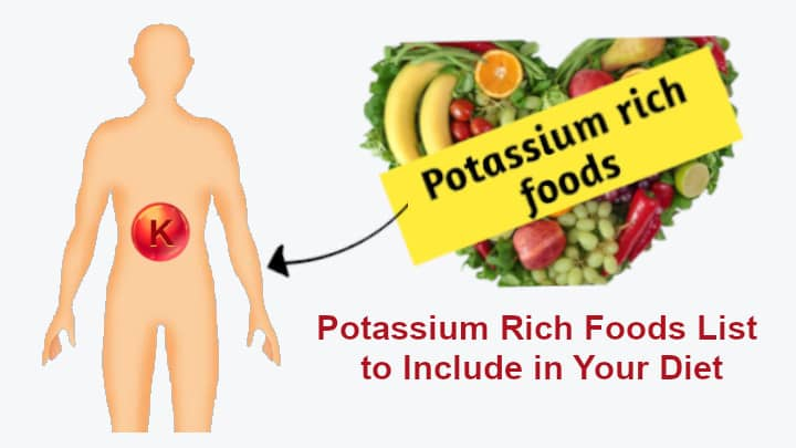Potassium Rich Foods List