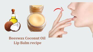 Beeswax Coconut Oil Lip Balm recipe